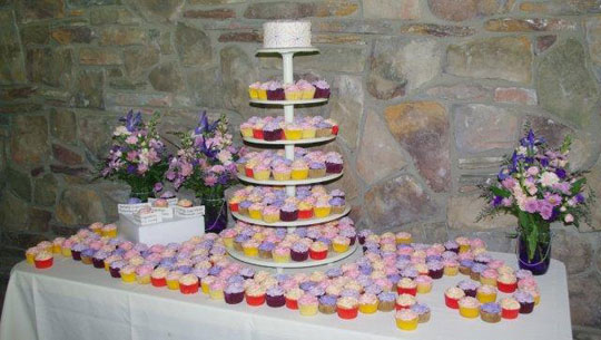 Creekside Grove Catering Cupcake Display
