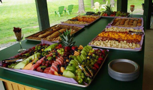 Creekside Grove Catering Fruit and Snack Trays
