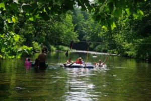 Rafting on the Creek